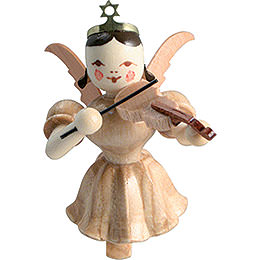 Floating Angel Violin, Natural  -  6,6cm / 2.6 inch