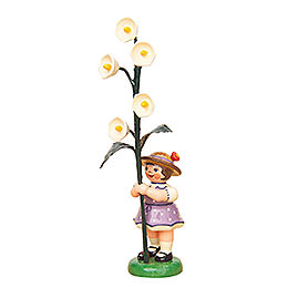 Flower Girl with Lily of the Valley  -  11cm / 4,3 inch