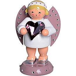 Glücksbote mit SWAROVSKI - Herz und Kerzensockel  -  8cm
