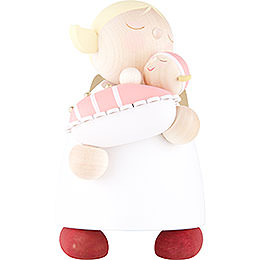 Guardian Angel with Baby Girl  -  16cm / 6.3 inch