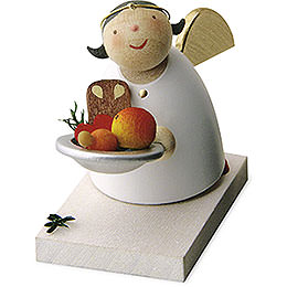 Guardian Angel with Christmas Plate  -  3,5cm / 1.3 inch