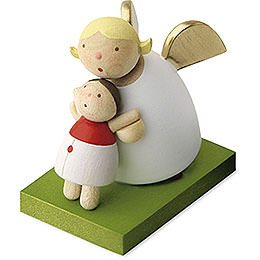 Guardian Angel with Dolly  -  3,5cm / 1.3 inch
