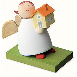 Guardian Angel with House  -  3,5cm / 1.3 inch