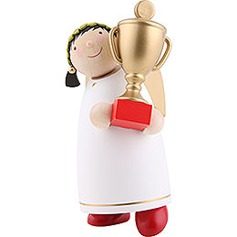 Guardian Angel with Trophy (winner)  -  8cm / 3.1 inch