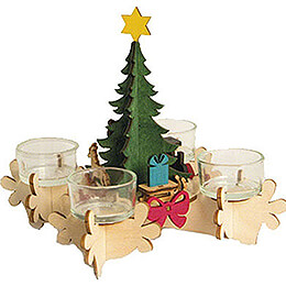 Handicraft Set  -  Advent Candle Holder  -  17cm / 6.7 inch