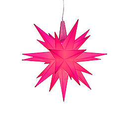 Herrnhuter Moravian Star A1e Magenta Plastic, Special Edition 2018  -  13cm/5.1 inch