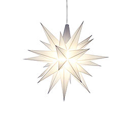 Herrnhuter Moravian Star A1e White Plastic  -  13cm/5.1 inch