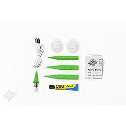 Herrnhuter Moravian Star DIY Kit A1b Green Plastic  -  13cm/5.1 inch