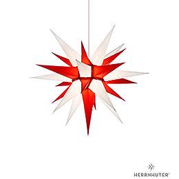 Herrnhuter Stern I6 weiß/rot Papier  -  60cm