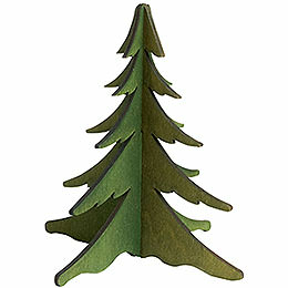 Holz - Steckbaum grün  -  13cm