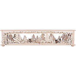Illuminated Stand Forest Clearing with White Frost and Winter Children for Candle Arches  -  70x12cm / 27.6x4.7 inch