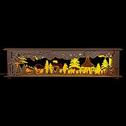 Illuminated Stand  -  Forest Seiffen  -  50x12cm / 19.7x4.7 inch