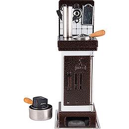 Incense Cones -  and Scented Oil Stove White/Copper  -  19cm / 7.5 inch