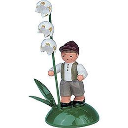 Junge mit Maiglöckchen  -  6cm