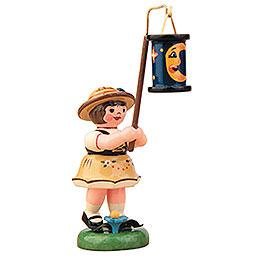Lampionkind Mädchen mit blauen Mondlampion  -  8cm