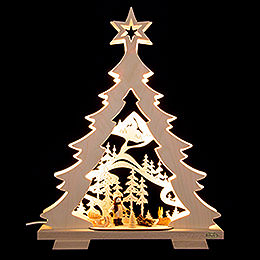 Light Triangle  -  Fir Tree 'A Walk in the Woods' LED  -  32x43x7,5cm / 12.6x17x3 inch