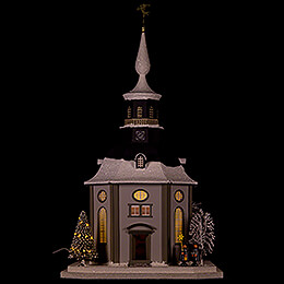Lighted House Carlsfeld Church  -  45cm / 17.7 inch