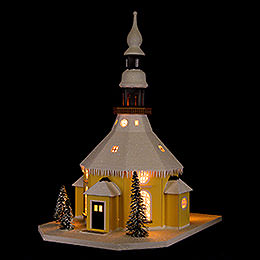 Lighted House Seiffen Church  -  40cm / 15.7 inch