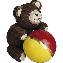 Lucky Bear with Ball  -  2,7cm / 1.1 inch