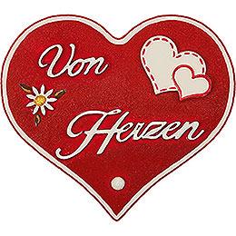 """Magnetpin - Herz """"Von Herzen""""  -  7cm"""