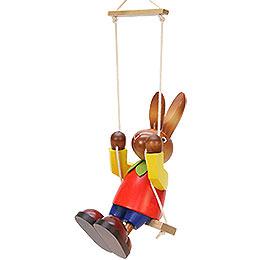 Male Bunny on Swing  -  20cm / 7.9 inch