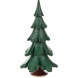 Massivholzbaum grün lasiert  -  12,5cm