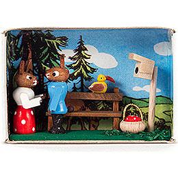 Matchbox  -  Bunny Couple  -  4cm / 1.6 inch
