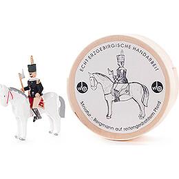Miner auf Pferd in Wood Chip Box  -  3cm / 1.2 inch