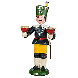 Miner with Candles  -  22cm / 8,7 inch