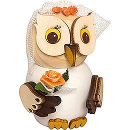Mini Owl Bride  -  7cm / 2.8 inch