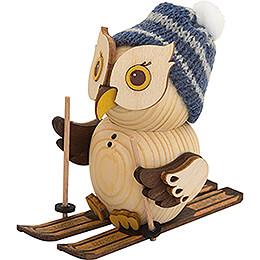Mini Owl with Ski  -  7cm / 2.8 inch