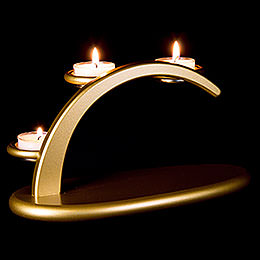 Modern Light Arch  -  Golden  -  without Figurines  -  25x13x10cm / 9.8x5.1x3.9 inch