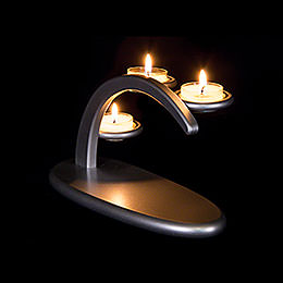 Modern Light Arch  -  Silver  -  without Figurines  -  25x13x10cm / 9.8x5.1x3.9 inch