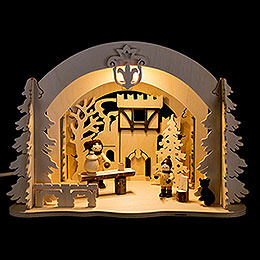 Motive Light  -  Diorama Castle Christmas  -  19cm / 7.5 inch