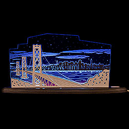 "Motive Light ""View Over San Francisco""  -  47x22,3cm / 18.5x8.8 inch"