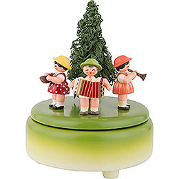 Music Box Children with Instruments  -  15cm / 5.9 inch