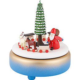 Music Box  -  Rupert's Train  -  Blue  -  17cm / 6.7 inch