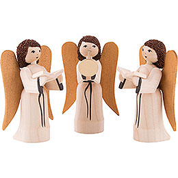 Nativity Angels, Set of Three, Glazed  -  7cm / 2.8 inch