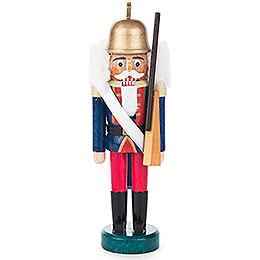 Nussknacker Gardesoldat blau - rot  -  14cm