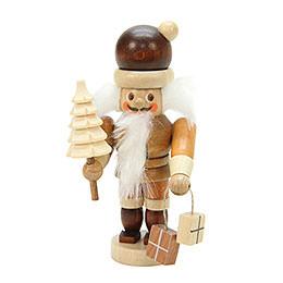 Nussknacker Mini Weihnachtsmann natur  -  10,0cm