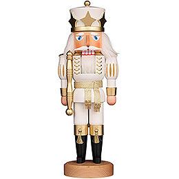Nussknacker Prinz weiß/gold lasiert  -  39cm