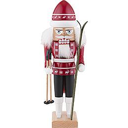 Nussknacker Skifahrer rot  -  29cm