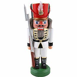 Nussknacker Soldat, weiß  -  22cm
