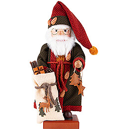 Nussknacker Weihnachtsmann Herbstfarben  -  49,5cm