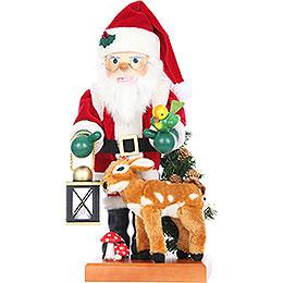 Nussknacker Weihnachtsmann mit Bambi Limitiert  -  46cm