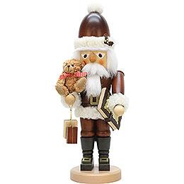 Nussknacker Weihnachtsmann mit Teddy natur  -  44,0cm