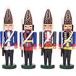 Nutcracker  -  Prussian Infantrymen  -  Set of Four  -  9,5cm / 3.7 inch