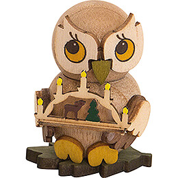 Owl Child with Candle Arch  -  4cm / 1.6 inch
