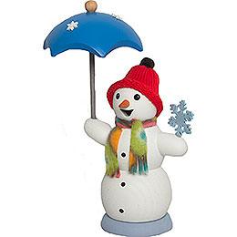 Räucherfräulein Schneefrau mit Schirm  -  13cm