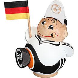 Räuchermännchen Fußballfan  -  Kugelräucherfigur  -  12cm